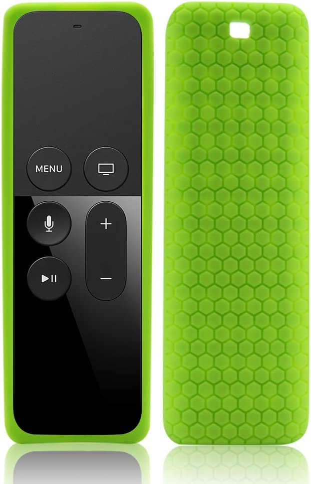 Remote Case Skin Sleeve Protector for Apple TV 4K (64GB, Latest Model),Silicone Case Covers Holder Compatible for Apple TV 4K 5th/4th Generation Siri Remote Control,Slim Protective Cover Case- Green