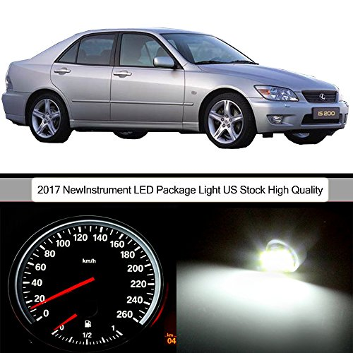 cciyu 25pack White Instrument Gauge Cluster Light+ Climate Control LED Light Kit Replacement fit for 2001-2005 Lexus IS300