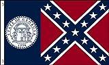 Old Georgia State 3x5 Feet Flag 1956-2001 by TrendyLuz Flags