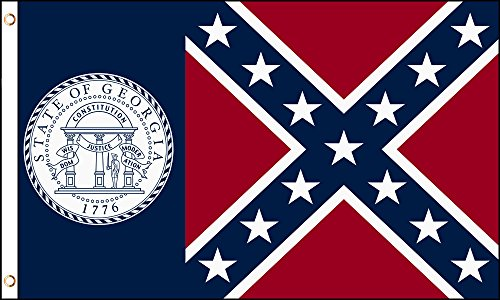 Old Georgia State 3x5 Feet Flag 1956-2001 by TrendyLuz ()