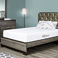 Fortnight Bedding 10 inch Queen Size Memory Gel Infused Foam Mattress with White stretch knit fabric - CertiPUR-US Certified – 10 year warranty - Made in USA