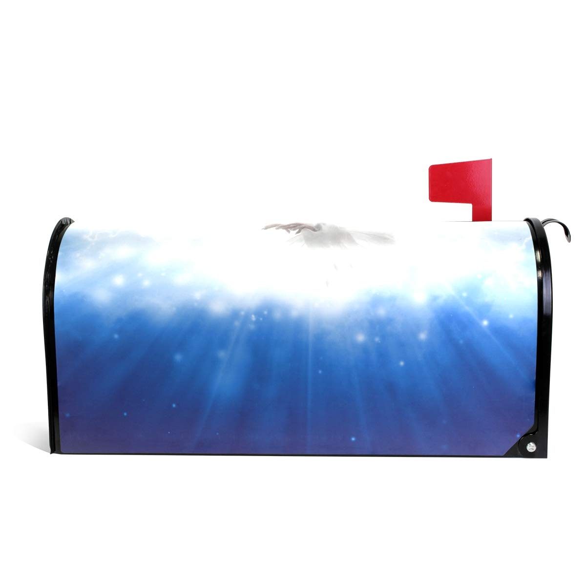 MAPOLO Holy Spirit Bird Flying Sky Light Shines from Heaven Magnetic Mailbox Cover Oversized