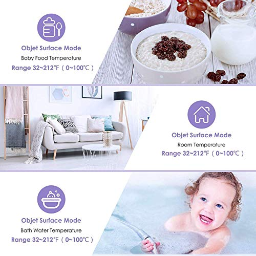 Forehead Thermometer for Fever, Digital Infrared Thermometer for Baby, Kids and Adults, Non-Contact Temporal Thermometer with Instant Accurate Reading, Fever Alarm and Memory Function