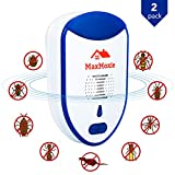 2020 Ultrasonic Pest Repeller Humane Mice Control Newest Electronic Insect Repellent Easiest Way to Reject Rodent Bed Bug Mosquito Fly Cockroach Spider Rat Defender Home Animal No Kill Plug in 2 Pack
