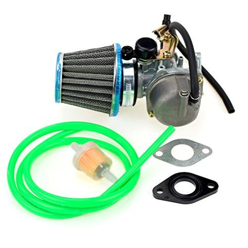 (HIAORS PZ19 19mm Carburetor 35mm Air Filter Intake Gasket Fuel line Filter for 50cc 70cc 90cc 110cc X15 X18 R Nitro X19 SSR Pocket Bike Baja Roketa Kazuma Sunl NST ATV Quad)