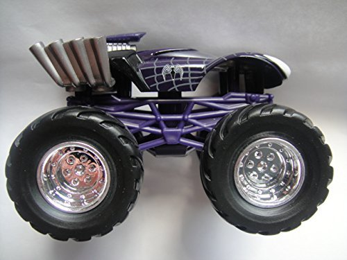MGA ENTERTAINMENT 1:64 SCALE MARVEL PURPLE BODY WITH CHROME RIMS SPIDER-MAN MONSTER TRUCK DIE-CAST