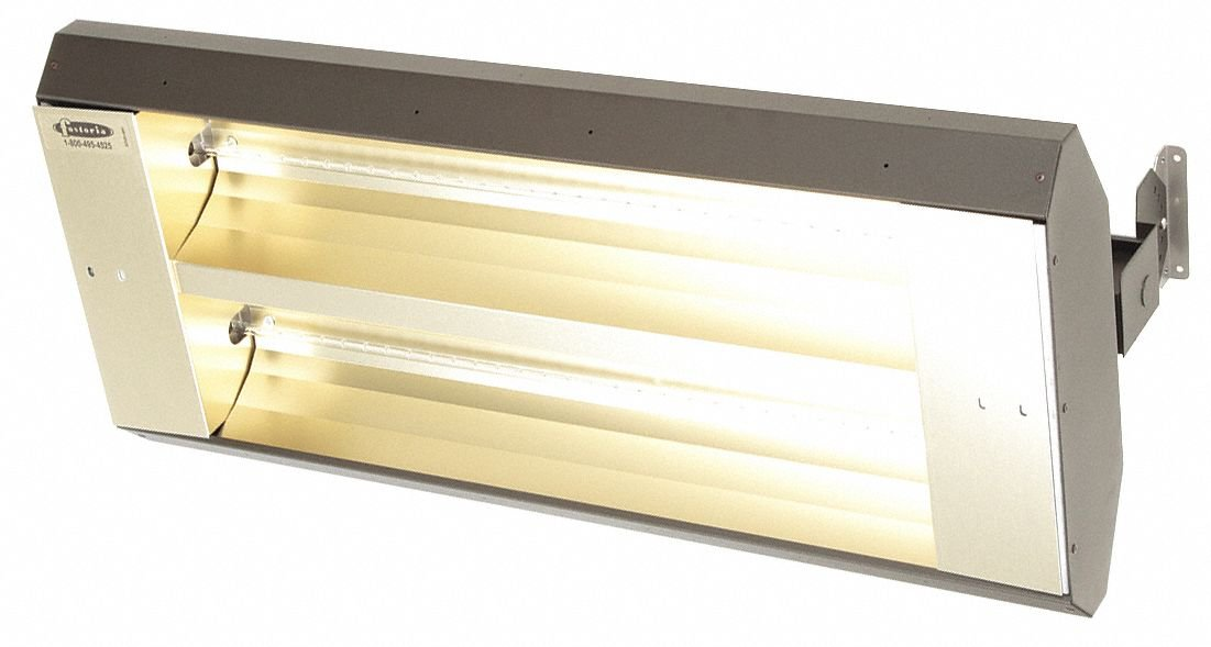 Electric Infrared Heater, Indoor, Outdoor, Ceiling/Suspended, Voltage 480, Watts 5000