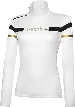 rh+ IND2858 017M - Camiseta para Mujer, Color Blanco, Negro y ...