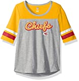 NFL Girls 7-16″Fan-Tastic Short Sleeve Tee-Heather Grey-L(14), Kansas City Chiefs