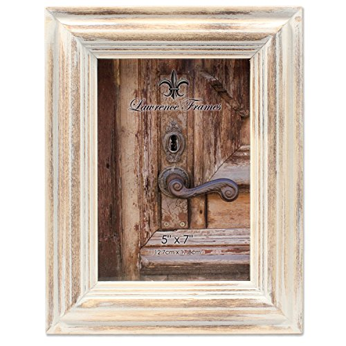 (5x7 White Wash Maple Picture Frame )
