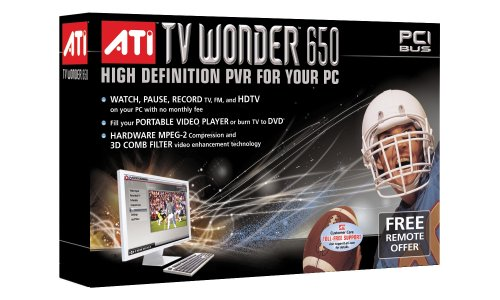 ATI 100-715331 TV Wonder 650 PCI Interface High Definition Personal Video Recorder for PC