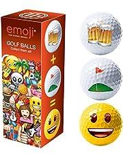 Emoji Bier, Golf, Smiley nieuwigheid leuke golfballen - 3 Pack
