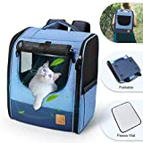 fruiteam pet carrier backpack soft sided, airline approved pet travel carrier 34cml x 25cmw x