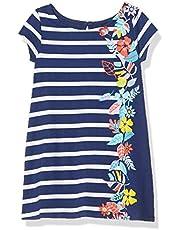 Nautica Girls' Short Sleeve Floral Dress