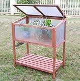 SKB family Garden Portable Wooden Cold Frame Greenhouse Raised Flower Planter Protection