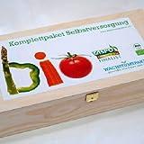 Bio-Saatgut Komplettpaket Selbstversorger Holzkiste