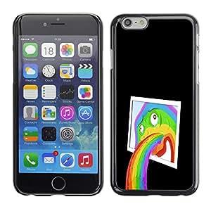Cubierta protectora del caso de Shell Plástico    Apple Iphone 6 Plus 5.5    Divertido abstracta del arte pop del arco iris @XPTECH