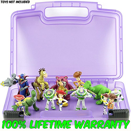 Buzz Lightyear Spaceship Costume (Life Made Better Toy Storage Organizer - Compatible With Toy Story Mini Figures - Durable Carrying Case- Purple)