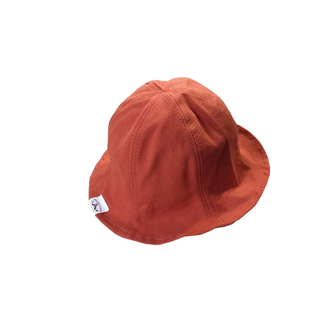YueLian Little Girls Portable Solid Summer Outdoor Activities Use Bucket Hats