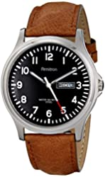 Armitron Men's 20/4996 Day/Date Function Dial Leather Strap Watch
