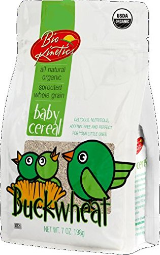 Organic Buckwheat Baby Cereal Made with Sprouted Whole Grain Buckwheat, 7 Oz. (198 g) - 2 Pack Buckwheat Whole Grain