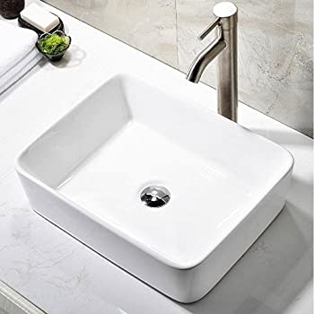 ufaucet modern porcelain above counter white ceramic bathroom vessel sink