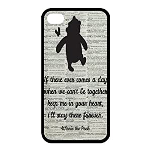 High Quality Customizable Durable Rubber Material Winnie prevent the is Pooh Quotes iPhone 5s Back in Cover Case prevent