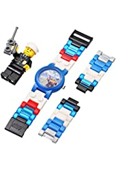 LEGO Kids` 4291329 City Policeman Watch with Minifigure New