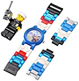 LEGO Kids' 4291329 City Policeman Watch with Link Bracelet and Figurine