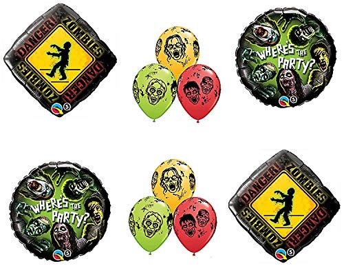 Zombies Walking Dead Zone Birthday Party Balloons Decorations