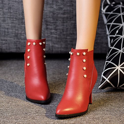 Femme 5 EU 36 Chelsea Boots HiTime Red Rouge AUfvx