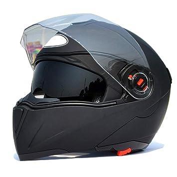 ZCRFY Cascos Integrales Moto Casco Modulares Jet Motocicleta Seguridad Crash Desmontable Doble Visera para Deporte Al