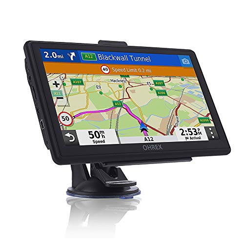 OHREX Sat Nav (7 inch) ,with 2021 UK Ireland Europe Maps(Free Lifetime Updates), GPS Navigation for Car Truck Lorry HGV…