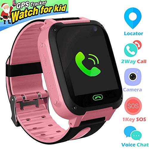 Kids Smart Watch Phone smartwatches for Children with GPS Tracker sim Card Anti-Lost sos Call Boys and Girls Birthday Compatible Android iOS Touch ...
