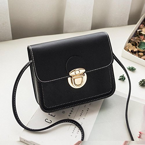 Bag Leather Shoulder Coin Girls Bag Messenger Bag Women Crossbody Black Phone Cover Bags Bag Htq6wF