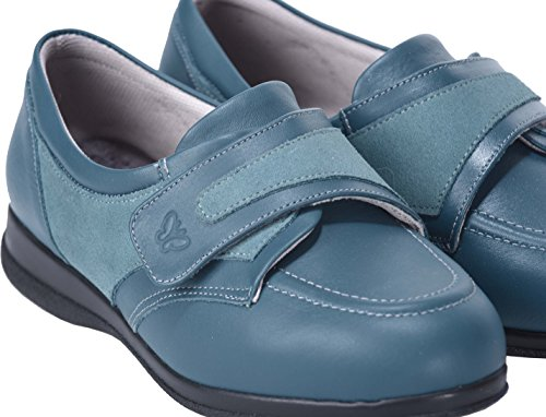 Teal Debbie Fitting Shoes Width Roomy 6E Leather Cosyfeet Extra TOqwx0