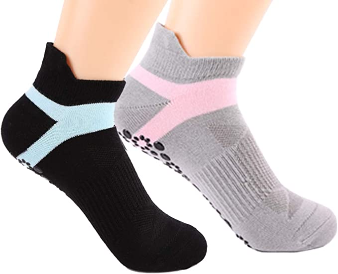 Yoga Socks for Women Barre Sock Grip Non-Slip No-Skid Pilates Hospital Maternity /…
