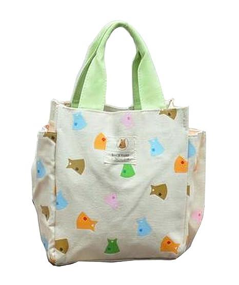 [Vestir-1] Bolsa de almuerzo de lona Bolso de picnic de bolsa reutilizable