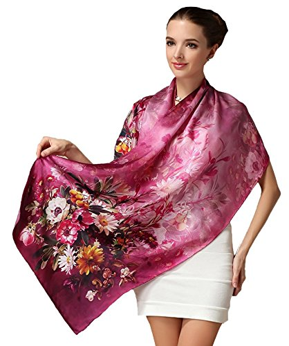- Autumn Daisy, 69 x 21 inches Silk Scarf, Fashion for Women Perfect Christmas Gift Elegant Wrap