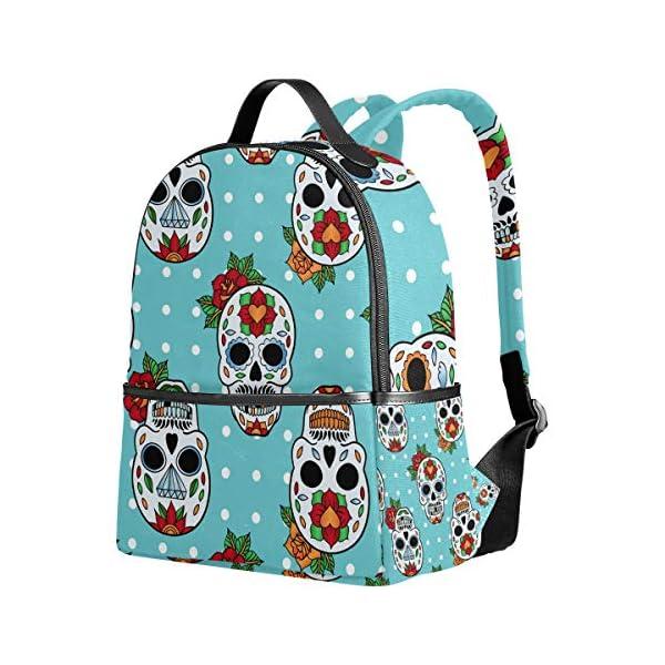 Blue Skull Pois Zaino per Donne Ragazze Ragazze Borsa Moda Bookbag Bambini Viaggio College Casual Daypack Ragazzo… 2 spesavip