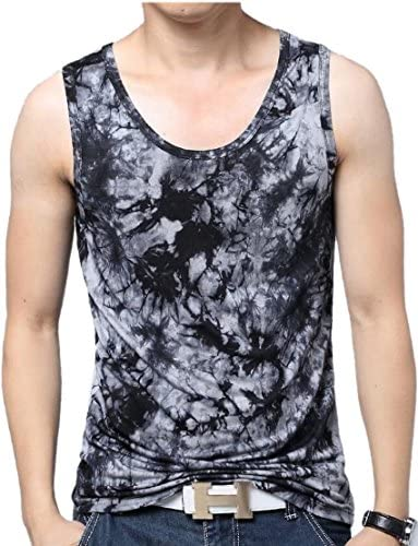 M/&S/&W Mens Slim Fit Tank Tops Sleeveless Button Muscle T Shirt
