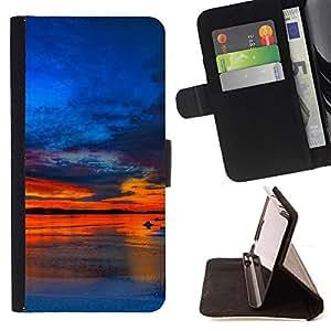 - Sunset Beautiful Nature 37 - - Monedero PU titular de la tarjeta de cr????dito de cuero cubierta de la caja de la bolsa FOR Apple Iphone 6 RetroCandy