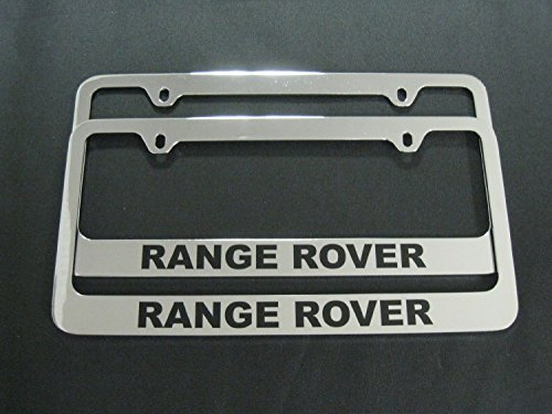 Chrome Range Rover License Plate Frame (2pcs) (metal) (Range Accessories Rover Chrome)