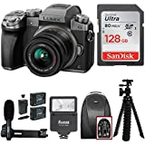 Panasonic LUMIX G7 Mirrorless Digital Camera (Silver) w/128GB Accessory Bundle
