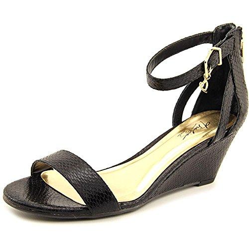 Thalia Sodi Womens Areyana Open Toe Casual Platform, Black Snake, Size 9.0 US/7 UK US