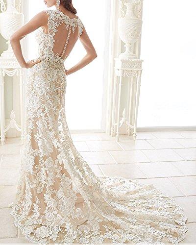 Brautkleider Damen Changjie Ausschnitt picture Prinzessin V Spitze As Lang Hochzeitskleider g6gqSHwv