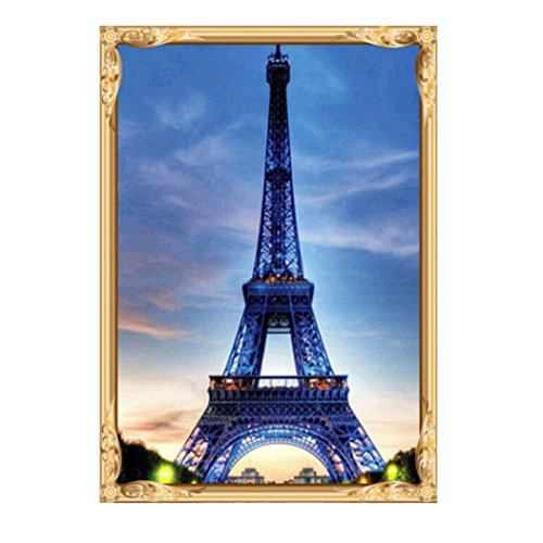 BCDshop 5D Tower Diamond Painting Embroidery DIY Craft Stitch Home Decor Wall Murals Art (Blue)