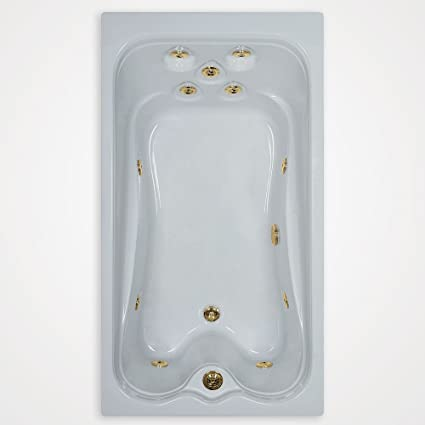 60x32 Elite Watertech Whirlpool Bath Includes Top Overflow And