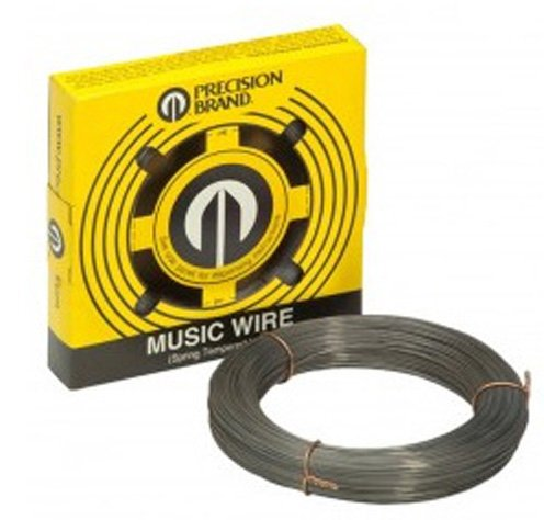 Music Wire, Material: Steel, Wire Diameter: 0.008'', Feet Per Pound: 5853ft, Weight: 1lb by Precision Brand