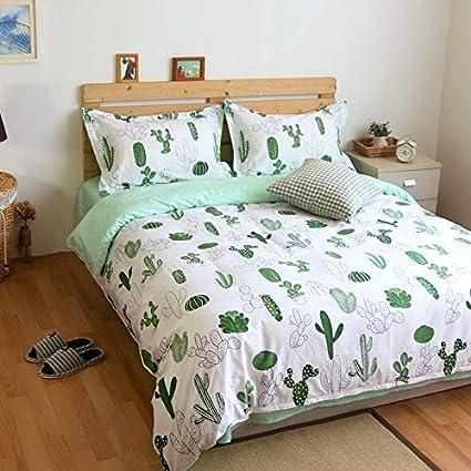 Amazon Lelva Cactus Print Bedding Duvet Cover Set For Kids